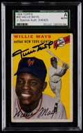 Autographs:Sports Cards, Signed 1954 Topps Willie Mays #90 SGC Authentic....