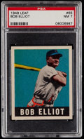 Baseball Cards:Singles (1940-1949), 1948 Leaf Bob Elliot #65 PSA NM 7....