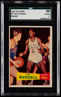 Basketball Cards:Singles (Pre-1970), 1957 Topps Bill Russell #77 SGC 30 Good 2....