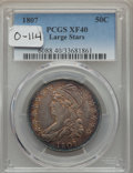1807 50C Capped Bust, Large Stars, O-114, R.3, XF40 PCGS....(PCGS# 39361)
