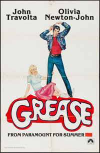 "Grease (Paramount, 1978). One Sheet (27"" X 41"") Advance. Musical"