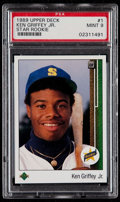 Baseball Cards:Singles (1970-Now), 1989 Upper Deck Ken Griffey Jr. #1 PSA Mint 9....