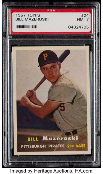1957 Topps Bill Mazeroski 24 Psa Nm 7 Baseball Cards