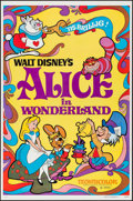 "Movie Posters:Animation, Alice in Wonderland (Buena Vista, R-1981). One Sheet (27"" X 41""). Animation.. ..."