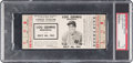 Baseball Collectibles:Tickets, 1941 Lou Gehrig Memorial Game Full Ticket, PSA VG 3. . ...
