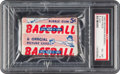Baseball Cards:Unopened Packs/Display Boxes, 1952 Bowman Baseball 5-Cent Unopened Wax Pack PSA EX-MT 6. ...