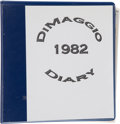 Baseball Collectibles:Others, 1982 Joe DiMaggio Handwritten Diary. ...