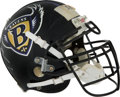 Football Collectibles:Uniforms, 1997 Ray Lewis Game Worn & Signed Baltimore Ravens Helmet --Photo Matched!. ...