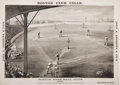 Baseball Collectibles:Others, 1888 John A. Andrews Cigars Boston Base Ball Club Print....