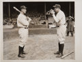 Baseball Collectibles:Photos, 1932 Babe Ruth & Lou Gehrig Opening Day Original NewsPhotograph, PSA/DNA Type 1....