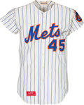 Baseball Collectibles:Uniforms, 1974 Tug McGraw Game Worn New York Mets Jersey -- Photo Matched....