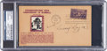 """Baseball Collectibles:Others, 1939 Napoleon """"Larry"""" Lajoie Signed Hall of Fame Grand OpeningFirst Day Cover, PSA/DNA Authentic.. ..."""