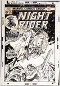 Original Comic Art:Covers, Gil Kane Night Rider #6 Cover Original Art (Marvel,1975)....
