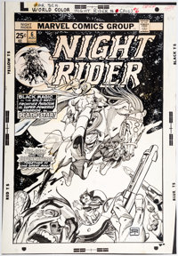 Gil Kane Night Rider #6 Cover Original Art (Marvel, 1975)