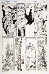 George Perez and Romeo Tanghal The New Teen Titans #26 page 13 Original Art (DC, 1982)