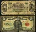 Canadian Currency: , DC-25g $1 1923;. Montreal, PQ- The Consolidated Bank of Canada $10July 1, 1876 Ch. # 205-10-06.. ... (Total: 2 notes)