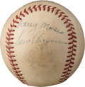 Baseball Collectibles:Balls, Circa 1950 Baseball Legends Multi-Signed Baseball with Bender,Robinson and Mack.. ...