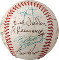 Baseball Collectibles:Balls, 1972 Pittsburgh Pirates Team Signed Baseball With Clemente (17Signatures).. ...