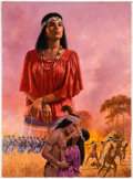 Original Comic Art:Covers, Gordon Johnson Seminole Skys Paperback Cover Original Art(Signet, 1982)....