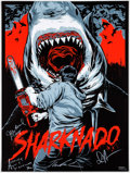 Memorabilia:Poster, Anthony Petrie Sharknado Limited Edition Print Signed byCast and Numbered 126/150 (Mondo SyFy SDCC, 2013)....
