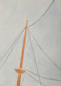 Fine Art - Work on Paper, Ralston Crawford (American, 1906-1978). Untitled (Top ofMast), circa 1934. Watercolor and ink on paper. 7-1/2 x 5-3/8i...