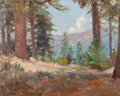 Fine Art - Painting, American, John Bond Francisco (American, 1863-1931). Through the Pines. Oil on canvas. 16 x 20 inches (40.6 x 50.8 cm). Signed and...