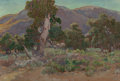 Fine Art - Painting, American, Charles Arthur Fries (American, 1854-1940). Oaks at Warner's. Oil on canvas. 18 x 26 inches (45.7 x 66.0 cm). Signed lo...