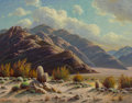 Paintings, Paul Grimm (American, 1891-1974). Desert and Mountain Symphony, 1958. Oil on canvas. 36 x 46 inches (91.4 x 116.8 cm). S...