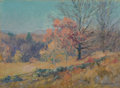 Fine Art - Painting, American, Maurice Braun (American, 1877-1941). Autumn Sketch. Oil oncanvas laid on board. 10 x 14 inches (25.4 x 35.6 cm). Signed...