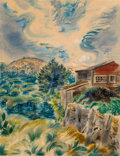Works on Paper, George Grosz (German/American, 1893-1959). Wellfleet, Cape Cod, 1939. Gouache on paper. 19-3/4 x 15-3/8 inches (50.2 x 3... (Total: 2 Items)