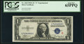Small Size:Silver Certificates, Fr. 1610 $1 1935A S Silver Certificate. PCGS Gem New 65PPQ.. ...