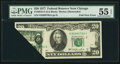 Error Notes:Foldovers, Fr. 2072-G $20 1977 Federal Reserve Note. PMG About Uncirculated 55EPQ.. ...