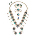 Estate Jewelry:Lots, Turquoise, Diamond, Lapis Lazuli, Gold, Silver Lot . ... (Total: 6Items)