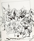 Original Comic Art:Covers, Rick Hoberg Captain Carrot and his Amazing Zoo Crew #17Cover Original Art (DC, 1983)....