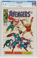 Silver Age (1956-1969):Superhero, The Avengers #58 (Marvel, 1968) CGC NM/MT 9.8 White pages....