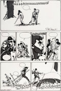 Original Comic Art:Panel Pages, Richard Corben Rip in Time No. 3 Story Page 74 Original Art(Fantagor Press, 1987)....