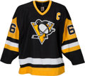 Hockey Collectibles:Uniforms, 1989-90 Mario Lemieux Game Worn Pittsburgh Penguins Jersey....