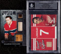 Hockey Cards:Lots, 2000's Maurice Richard and Ted Lindsey Jersey/Stick Sample CardsPair (2). ...