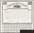 Confederate Notes:Group Lots, Ball 1 Cr. 5A $50 1861 Bond Very Fine. . ...