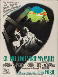 """How Green Was My Valley (20th Century Fox, 1946). First Post-War Release French Grande (46.75"""" X 62.5""""). Drama..."""