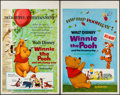 "Movie Posters:Animation, Winnie the Pooh and the Honey Tree & Other Lot (Buena Vista,1966). Window Cards (2) (14"" X 22""). Animation.. ... (Total: 2Items)"