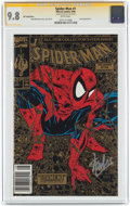Modern Age (1980-Present):Superhero, Spider-Man #1 Gold Edition 2nd Printing - Signature Series (Marvel,1990) CGC NM/MT 9.8 White pages....