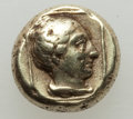 Ancients:Greek, Ancients: LESBOS. Mytilene. Ca. 377-326 BC. EL sixth stater orhecte (2.52 gm). About VF....
