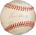 Autographs:Baseballs, The Only Known Ernie Davis Single Signed Baseball. ...