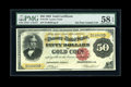 Large Size:Gold Certificates, Fr. 1194 $50 1882 Gold Certificate PMG Choice About Unc 58 EPQ....