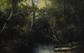 Fine Art - Painting, European:Modern  (1900 1949)  , P. A. TABOR (British, Early Twentieth Century). Pond in a Thicket. Oil on board. 12-1/4 x 18 inches (31.1 x 45.7 cm). Si...