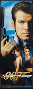"""Movie Posters:James Bond, The World is Not Enough (MGM, 1999). Door Panel (26"""" X 72"""") 1 + 2 Style. James Bond. ..."""