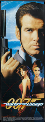 """The World is Not Enough (MGM, 1999). Door Panel (26"""" X 72"""") 1 + 2 Style. James Bond"""