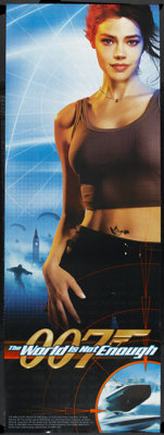 """The World is Not Enough (MGM, 1999). Door Panel (26"""" X 72"""") Denise Richards Style. James Bond"""