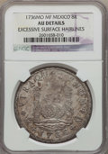 Mexico, Mexico: Philip V 8 Reales 1736 Mo-MF AU Details (Excessive SurfaceHairlines) NGC,...